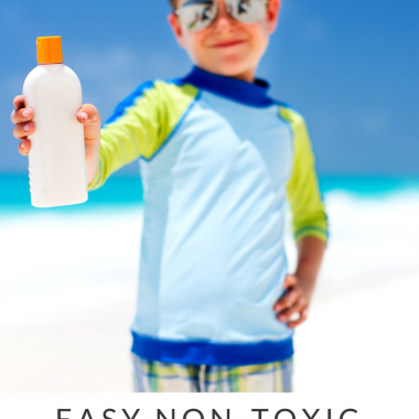 Easy Non-Toxic Beach Cream