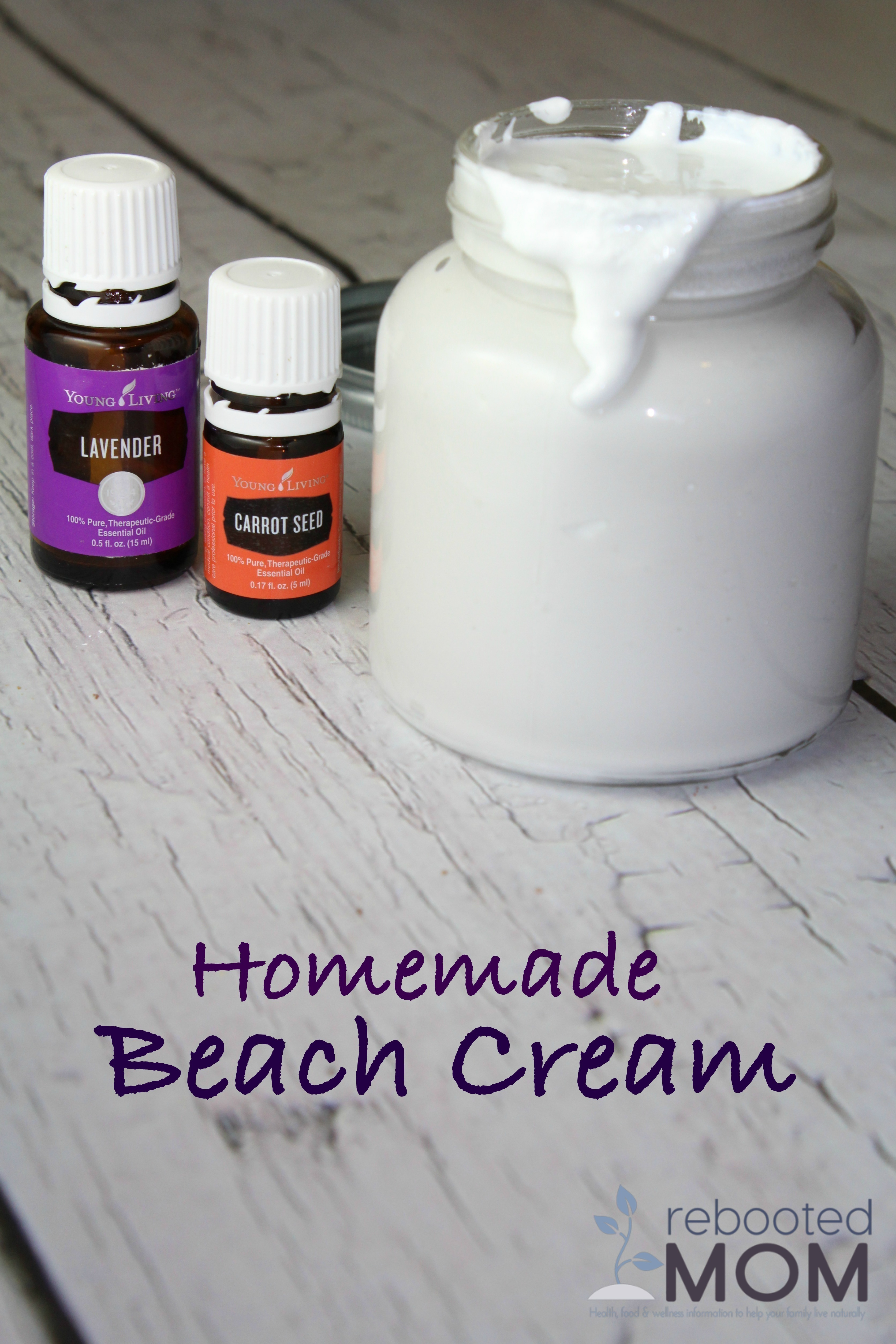 Homemade Beach Cream {Safe & Non-Toxic}