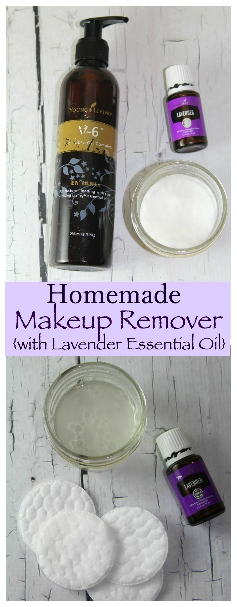 This Homemade Makeup Remover with Lavender Essential Oil is SUPER easy to make and would be a wonderful addition to your personal beauty regimen!