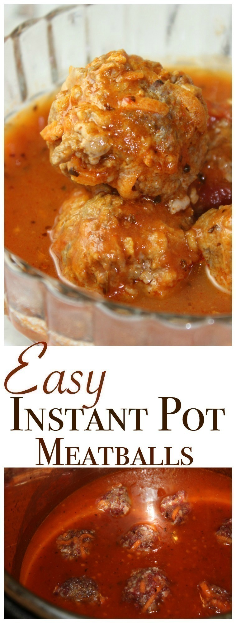 EASY Meatballs in the Instant Pot