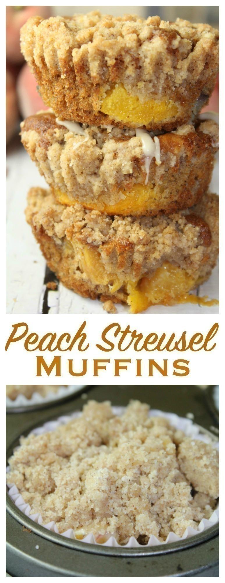 Peach Streusel Muffins