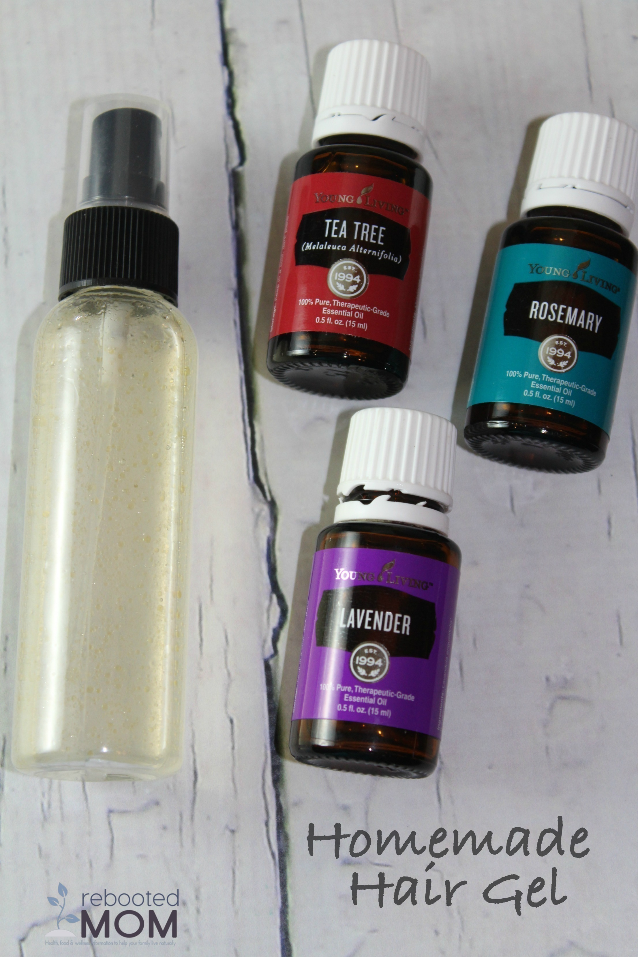 Homemade Hair Gel with Essential Oils