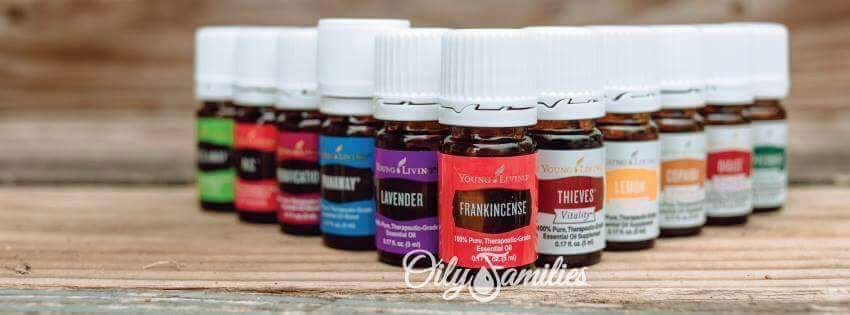 Oily Families Starter Kit Lineup with Vitality Oils