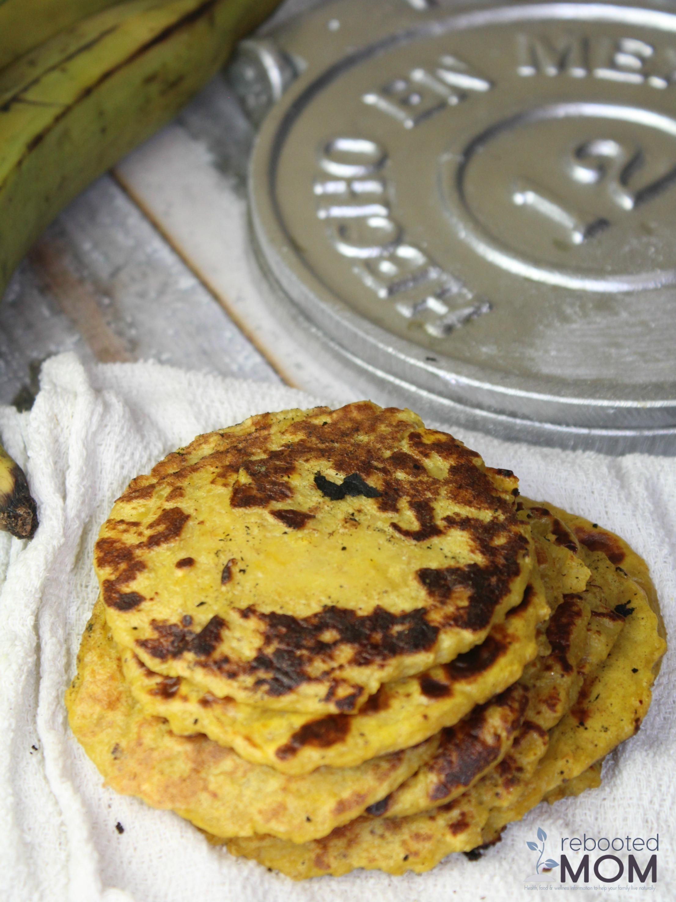 One Ingredient Plantain Tortillas