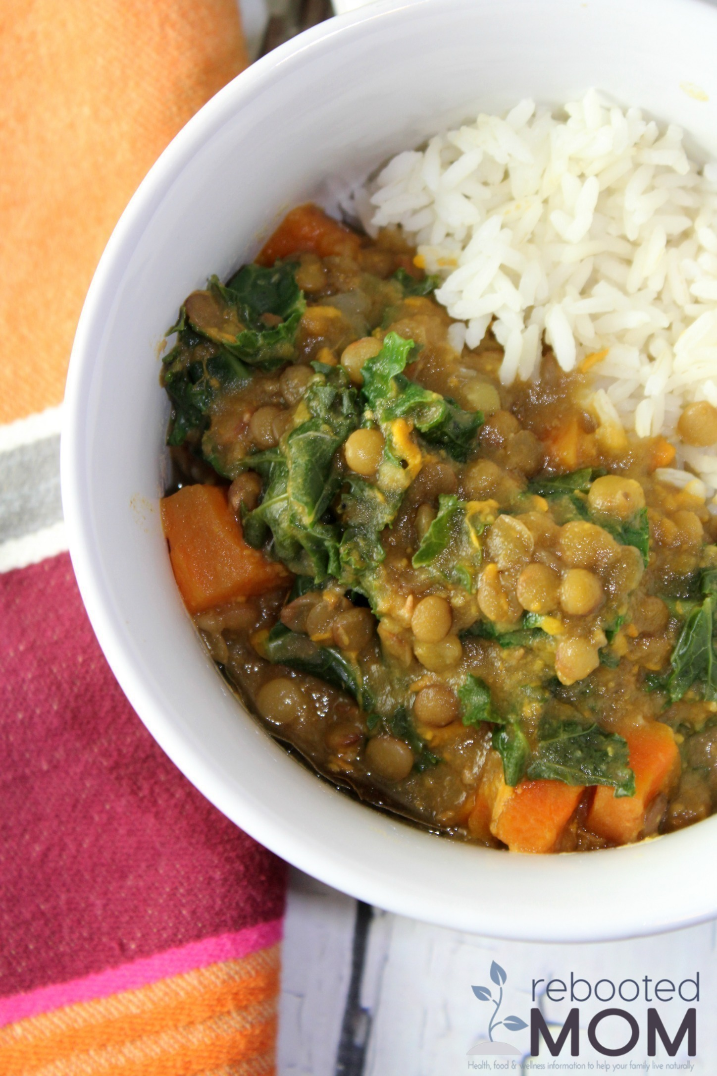 Lentil Sweet Potato Kale Soup