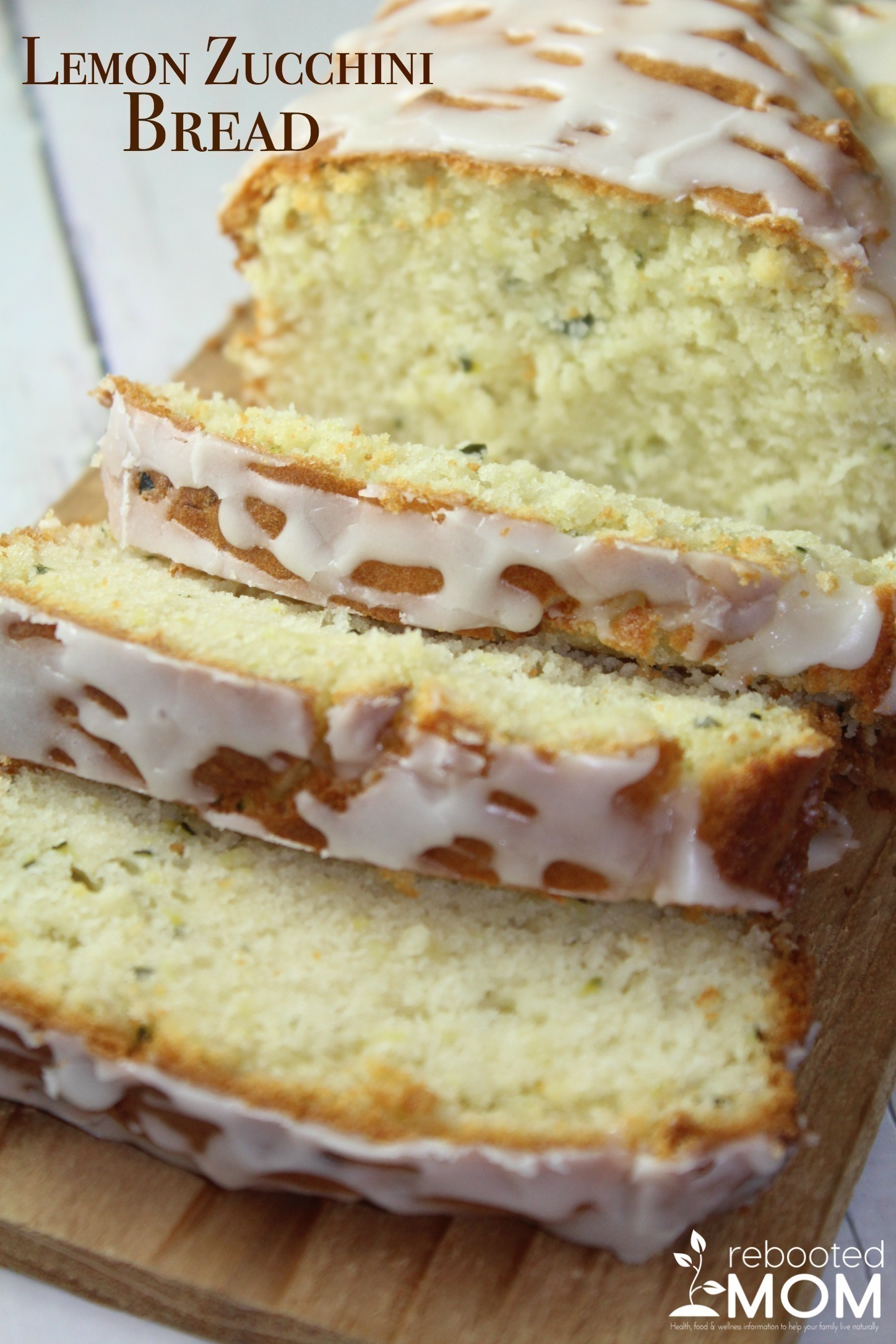 This Lemon Zucchini Bread with Essential Oils is a wonderful way to enjoy breakfast with a cup of coffee - this savory bread is speckled with zucchini with a light glaze.