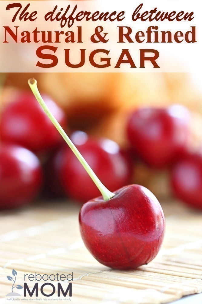 The difference between natural & refined sugar