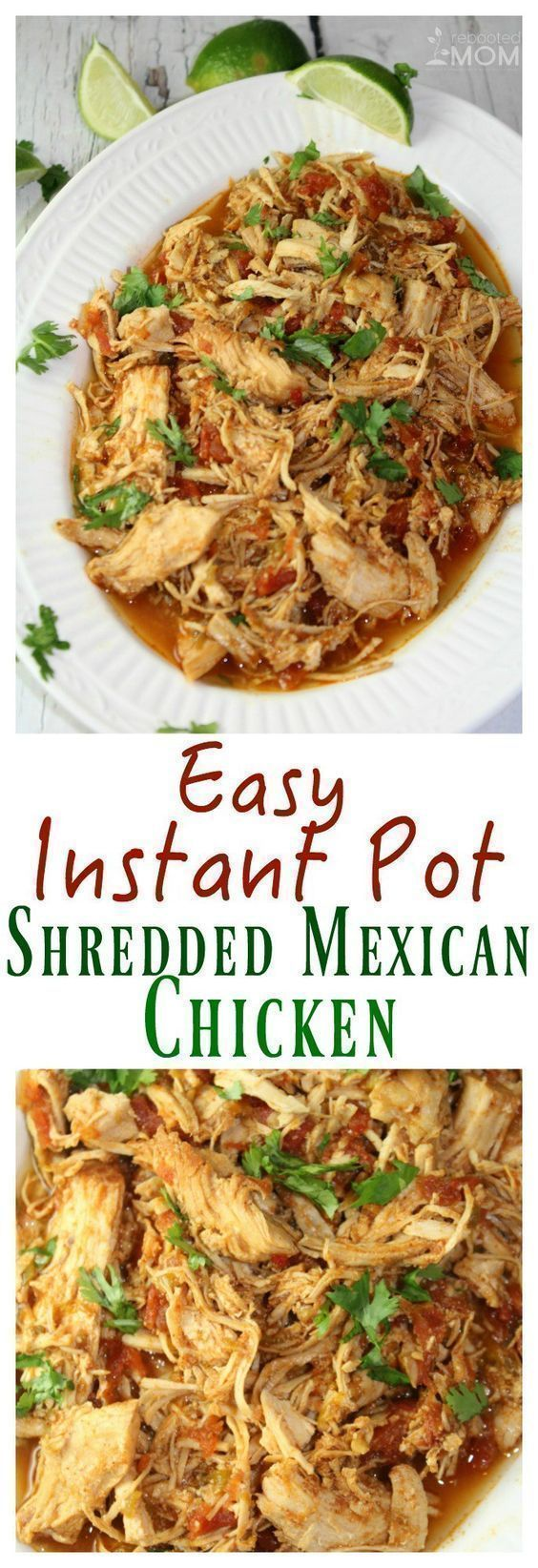 This Instant Pot Shredded Mexican Chicken is not only easy to make, it's great to have on hand at home for tacos, burritos, chimichangas, or just eaten over rice!