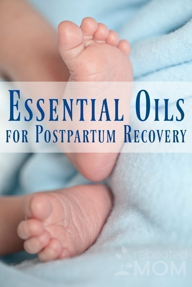 Find the best Essential Oils to have on hand for postpartum recovery.
