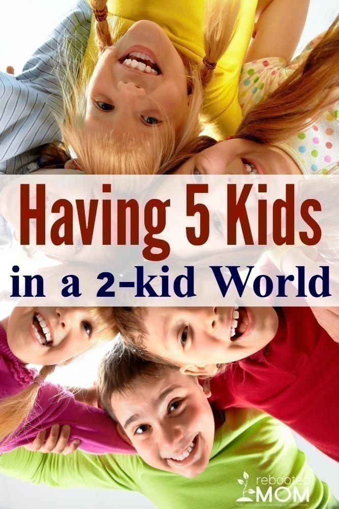 Having 5 Kids in a 2-Kid World