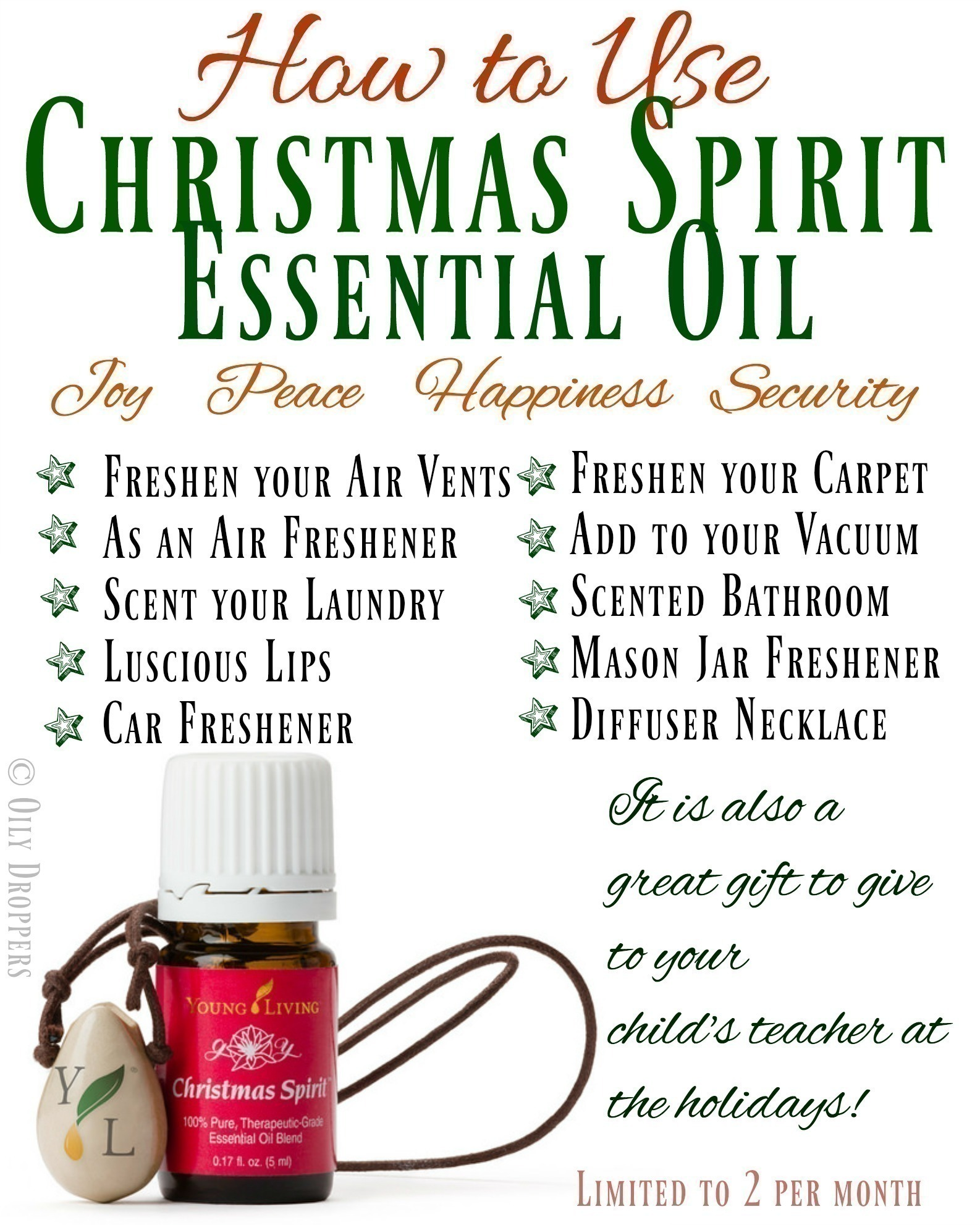 How To Use Christmas Spirit Essential Oil Rebooted Mom