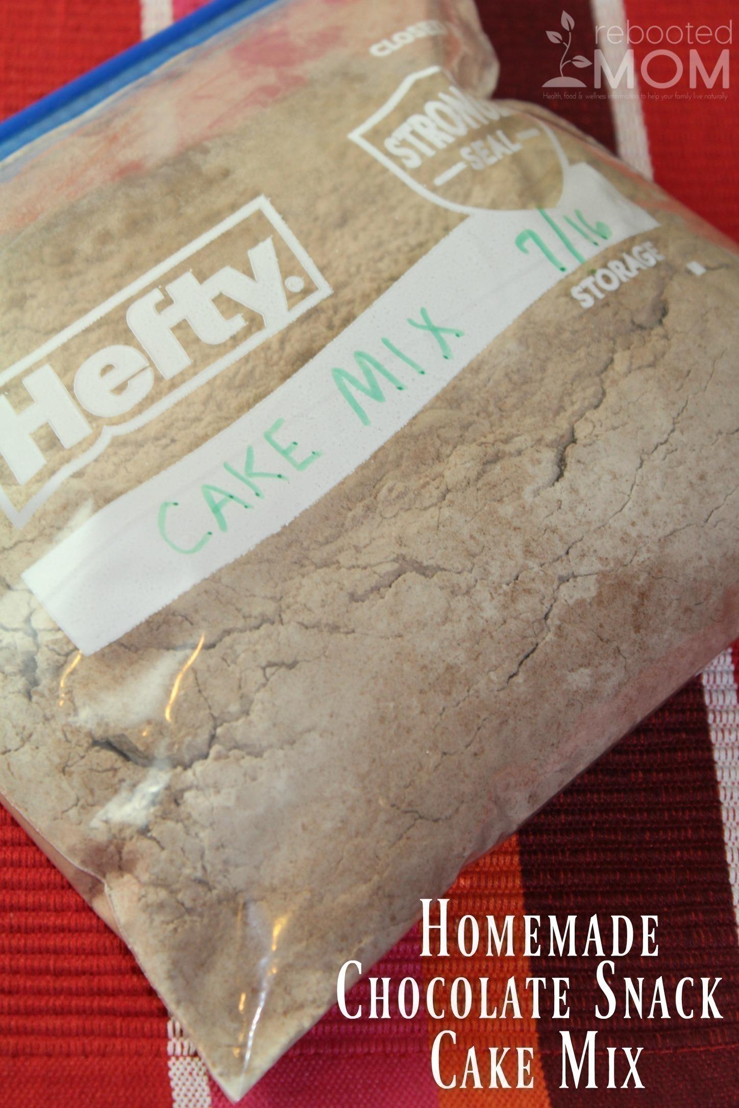 Homemade Chocolate Snack Cake Mix