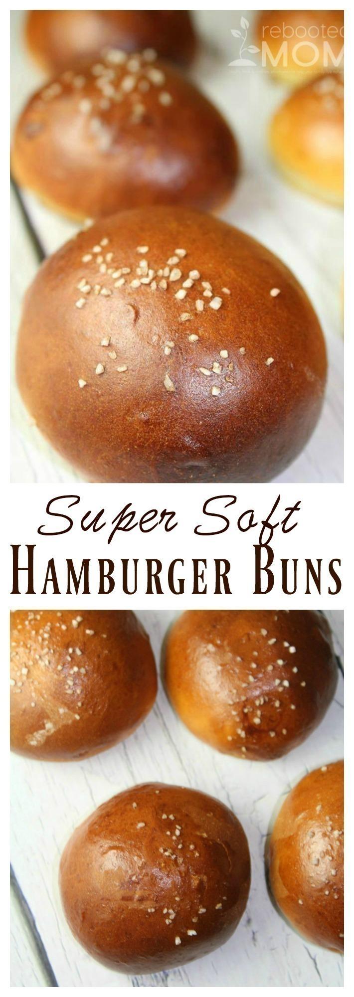 Super Soft Hamburger Buns (ONLY 45 minutes!)