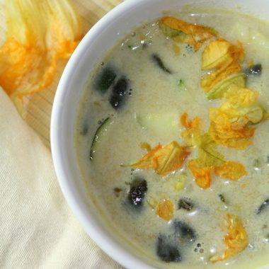 Squash Blossom Soup (Crema de Flor de Calabaza)