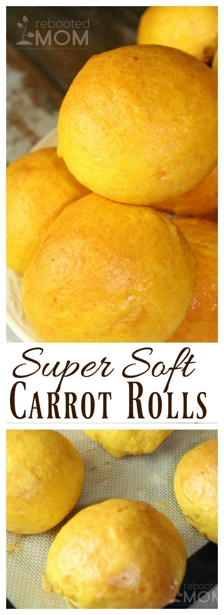 Super Soft Carrot Rolls