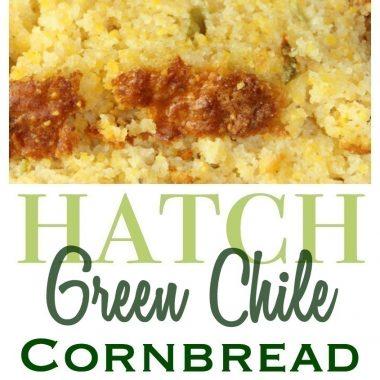 Cheesy Hatch Green Chile Cornbread