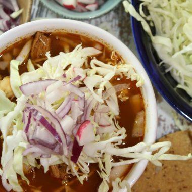 Red Chile Posole with Chicken (Posole con Chile Rojo y Pollo)