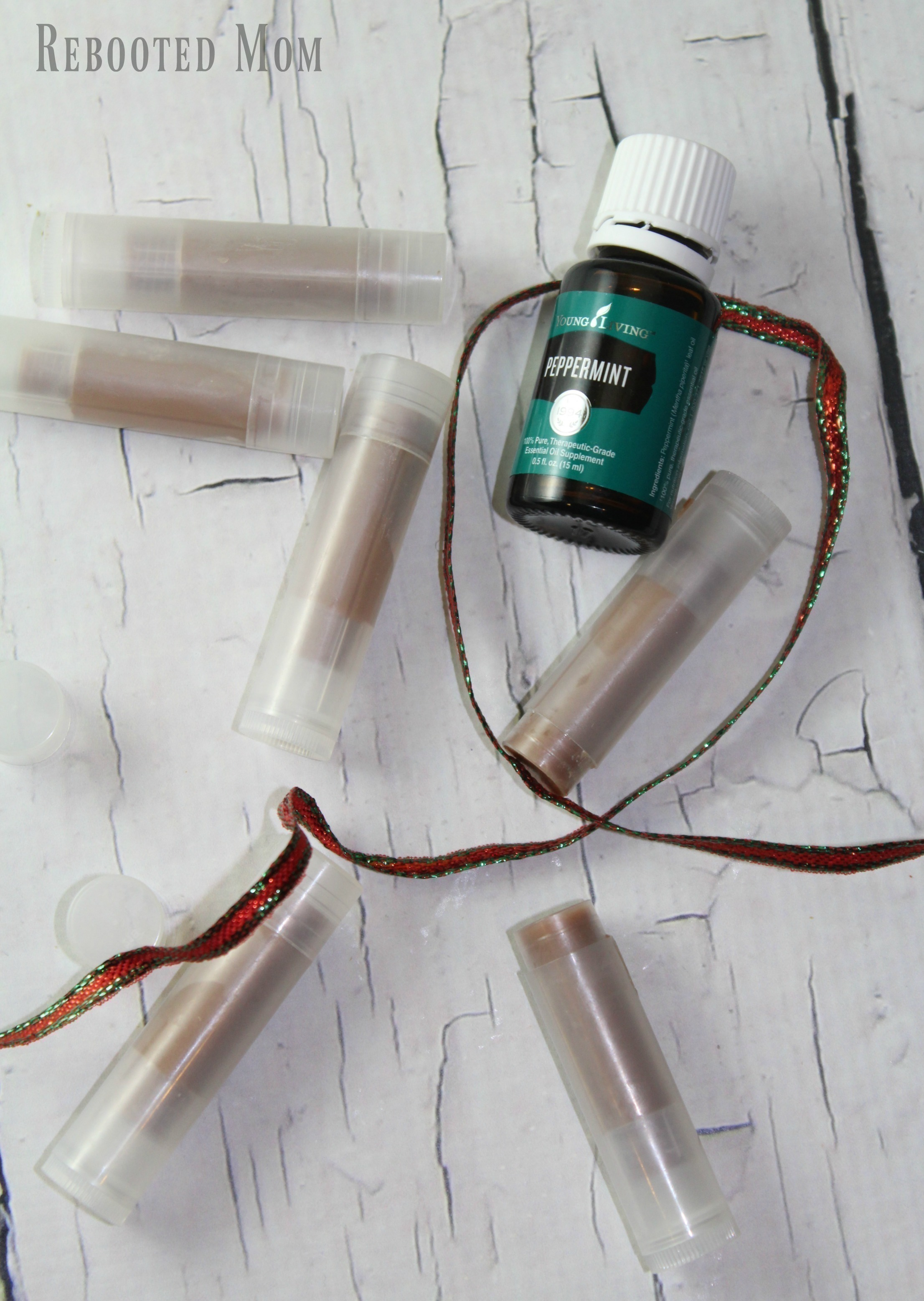 This Peppermint Chocolate Lip Balm with Essential Oils is SO easy to make - and is pretty awesome to give as a gift!