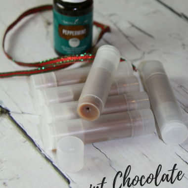 Peppermint Chocolate Lip Balm with Essential Oils