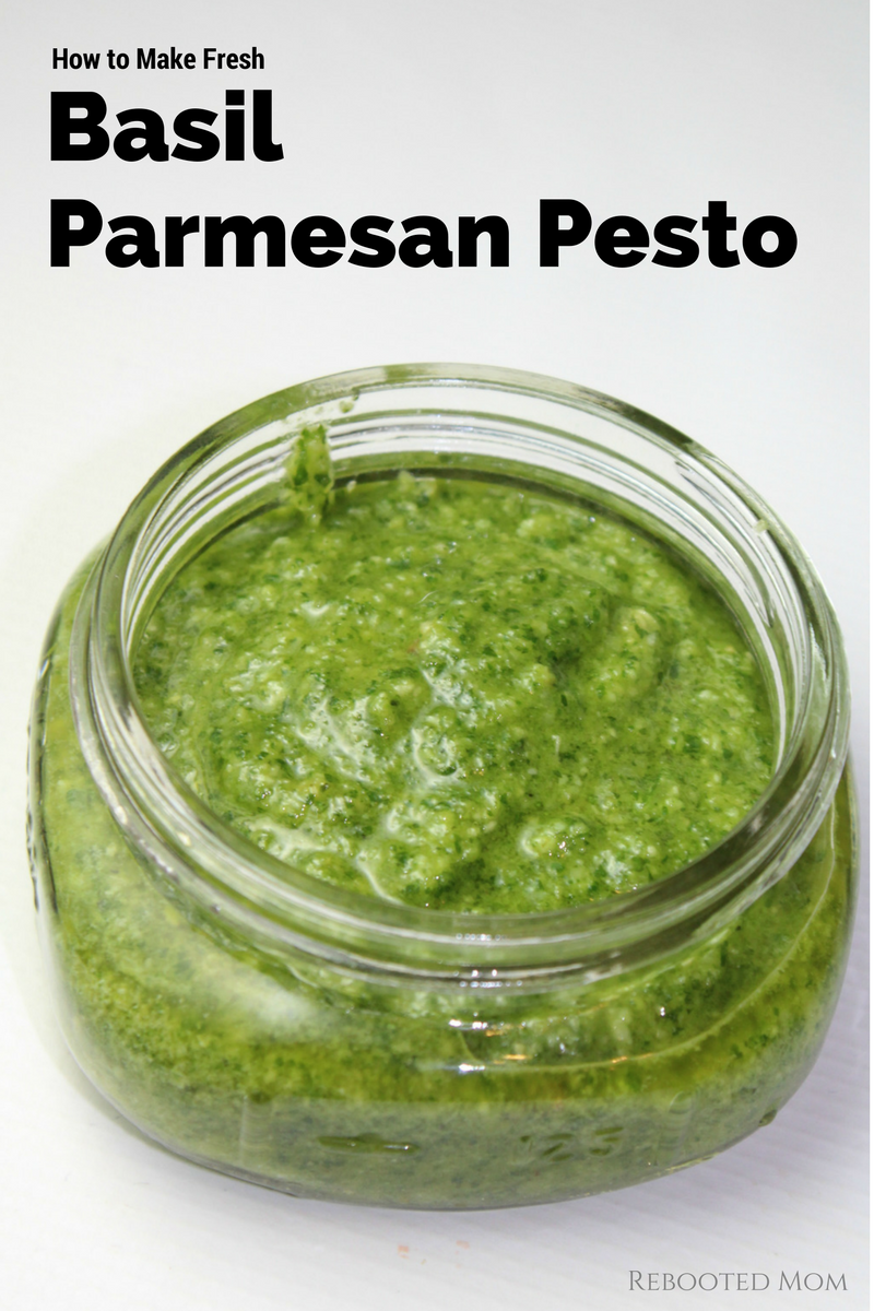 How to Make Fresh Basil Parmesan Pesto