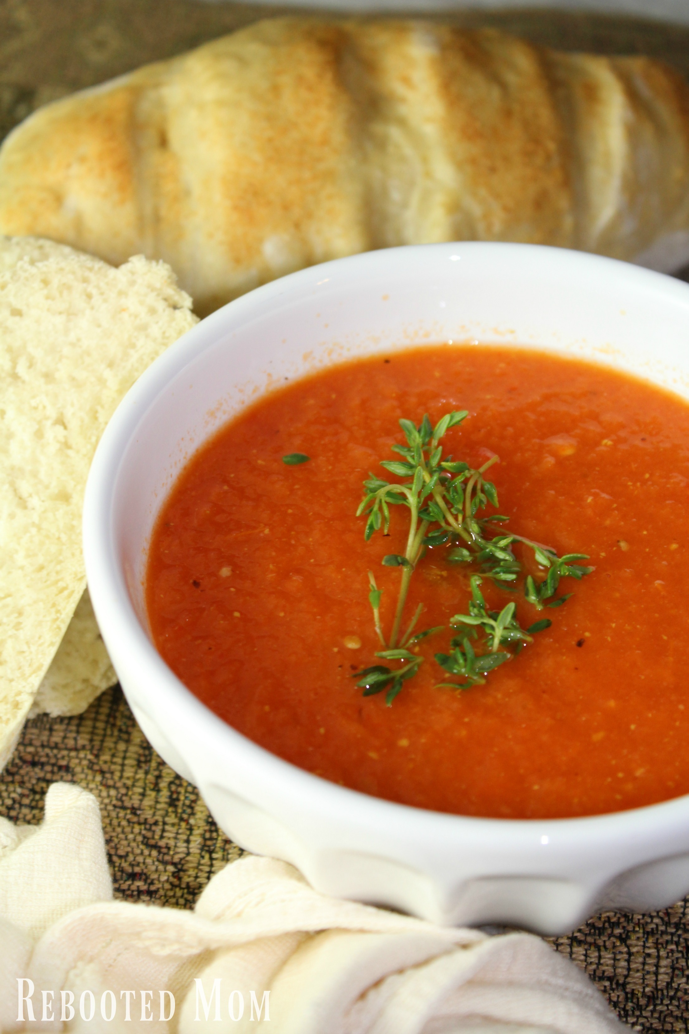 A simple recipe that comes roasted bell peppers and tomatoes with onions and garlic to make a simple & satisfying soup!