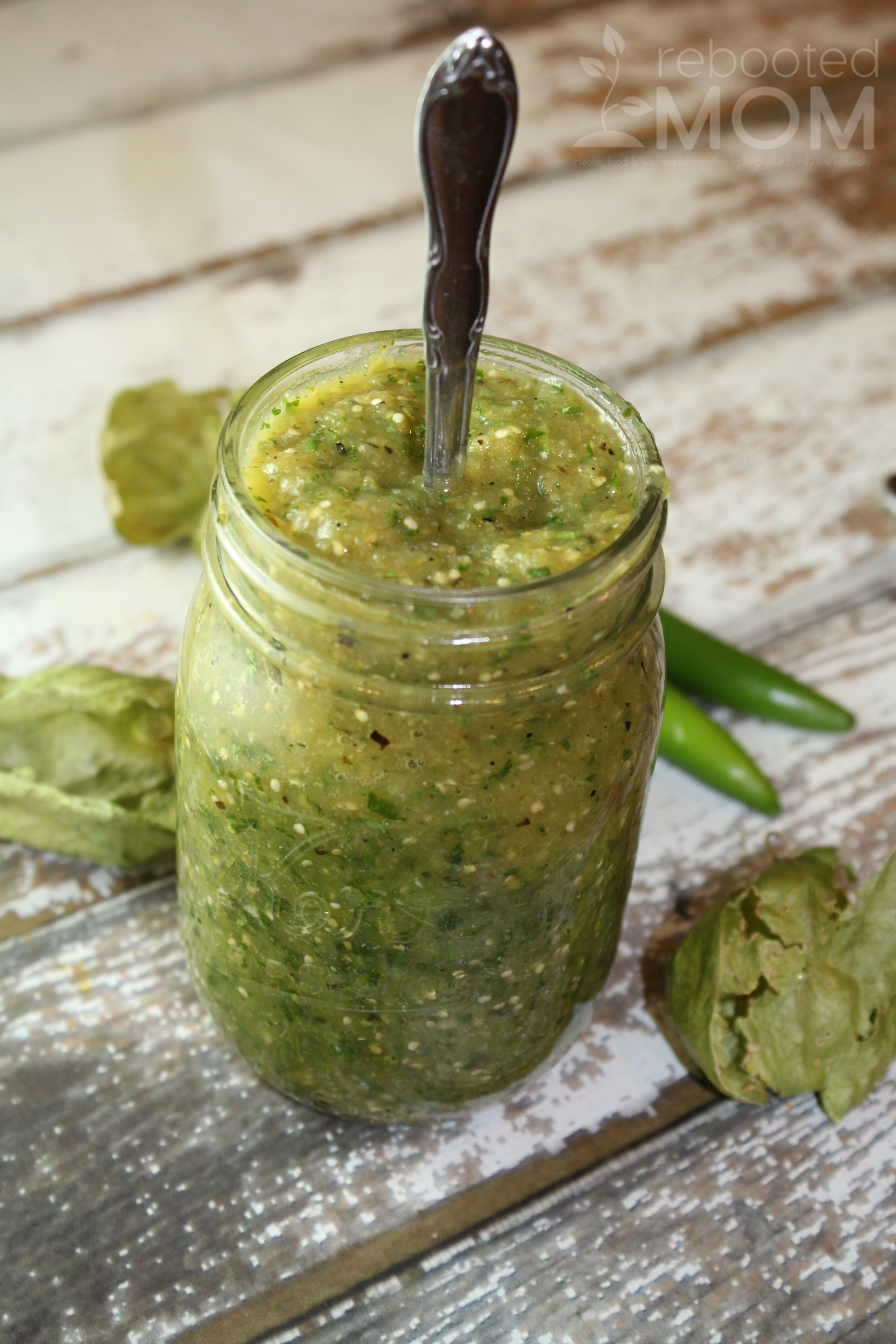 Combine roasted tomatillos with serrano peppers, onions, garlic and oregano for a thick salsa that's full of kick.