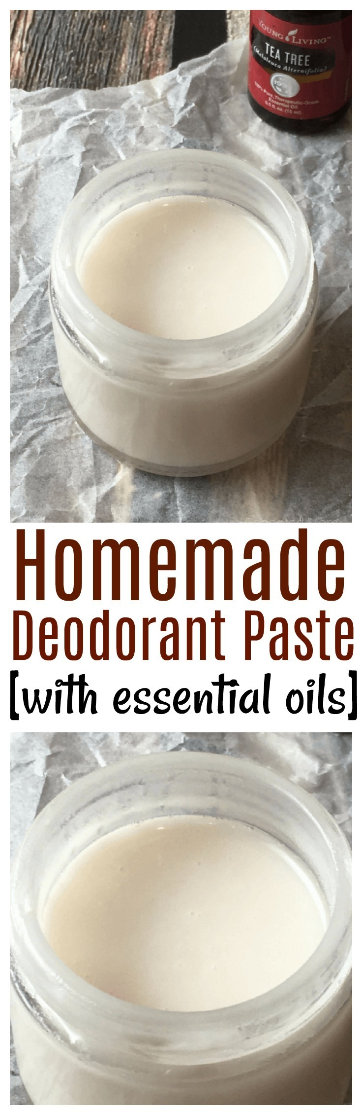 How to make homemade deodorant paste: This is a great way to kick your commercial deodorant to the curb in favor of a less harmful, skin loving product. #DIY #deodorant #essentialoils