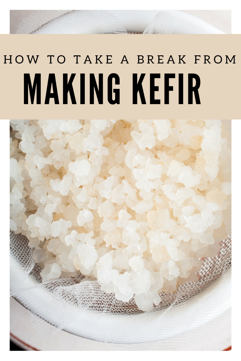 How to Take a Break from Making Kefir