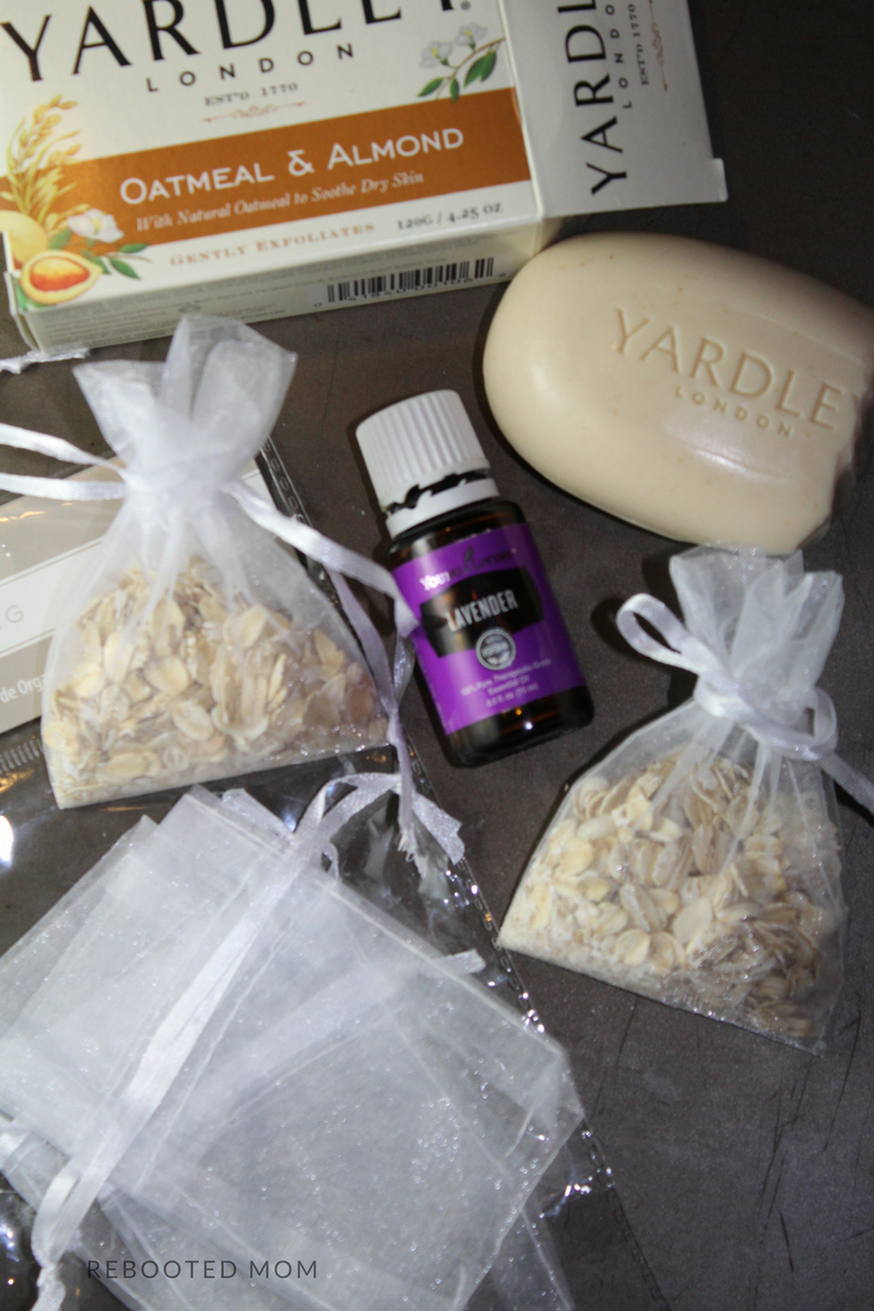 Combine Lavender Essential Oil with Oatmeal and grated Soap to make these really easy and inexpensive bath pouches - they are wonderful for supporting healthy skin!
