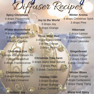 Happy Holidays Diffuser Recipes