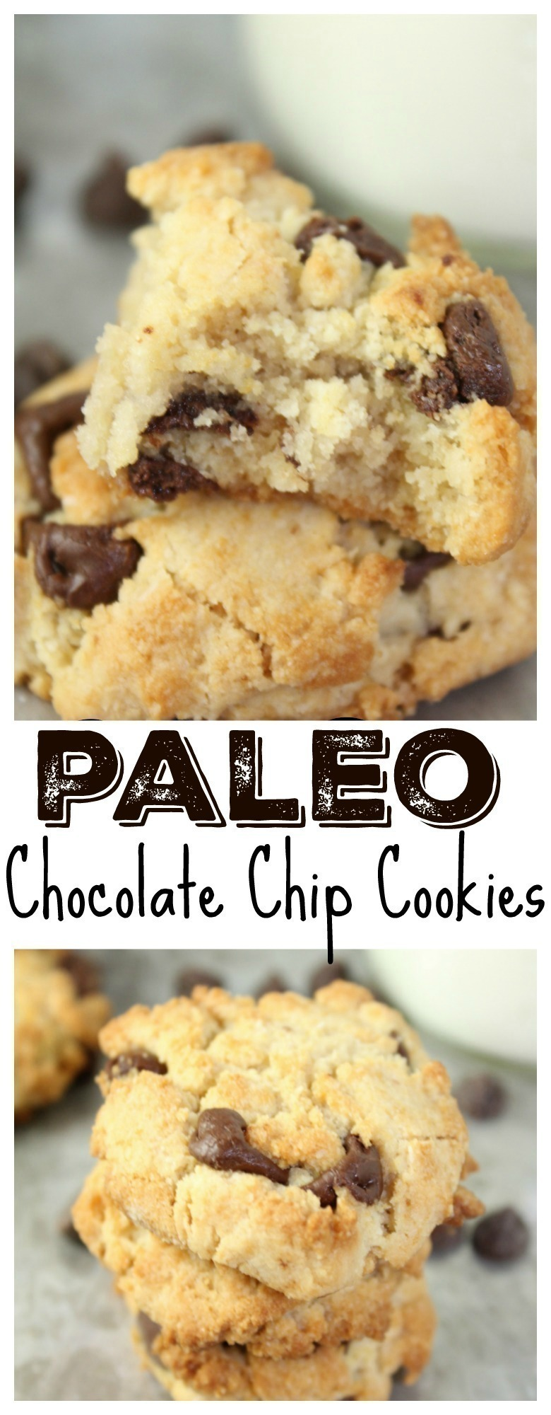 A healthier alternative to the traditional chocolate chip cookie - gluten-free, grain-free, and no refined sugar. They are soft and chocolatey!