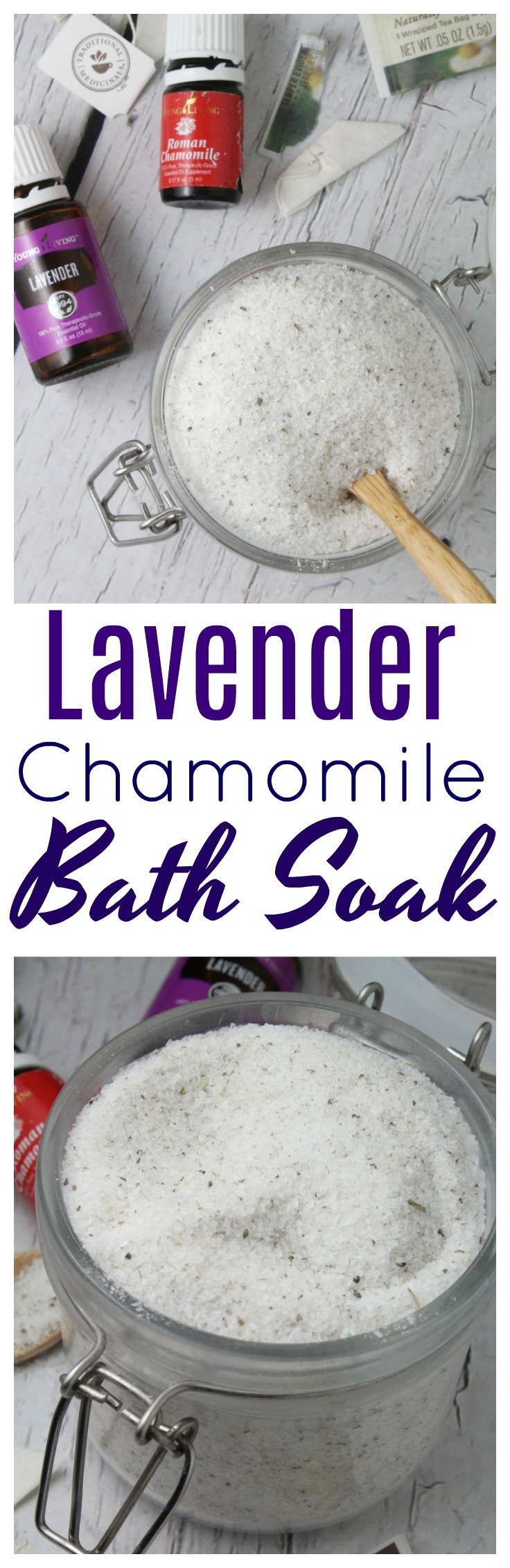 This Relaxing Lavender Chamomile Herbal Bath Soak is incredibly easy to make and great to gift! #handmade | #gift | #DIY