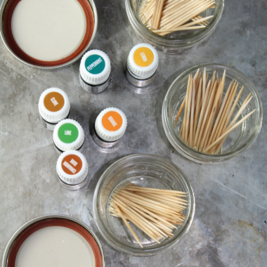Flavored Toothpicks with Essential Oils
