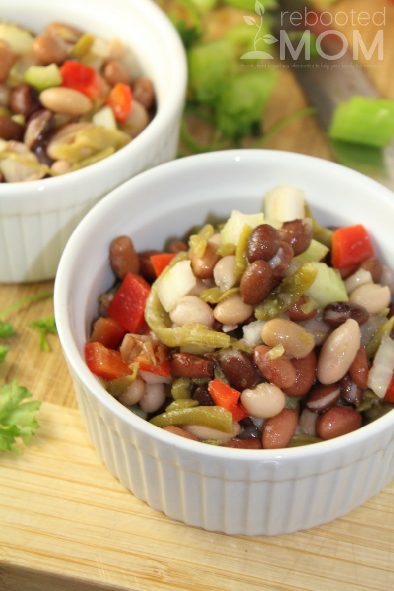 This simple bean salad is incredibly easy to make - you won't be able to get enough!