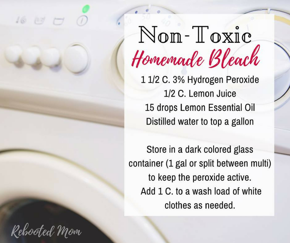 Ditch that toxic commercial bleach in favor of a healthier option. This homemade natural bleach alternative is both easy & effective!