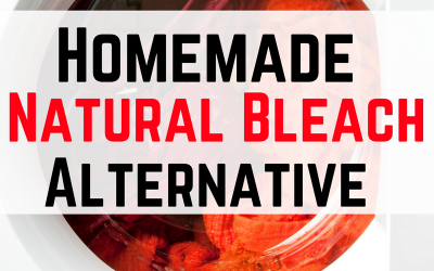 Bleach is so toxic for your skin and health - ditch the commercial bleach and use this homemade, natural bleach alternative!
