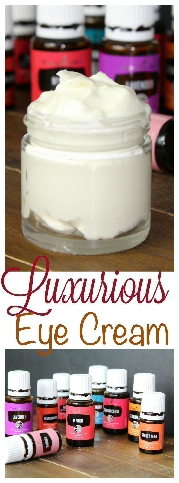 This luxurious eye cream is incredibly easy to make - just two main ingredients and your choice of essential oils. It's smooth, rich, and incredibly wonderful for your skin!