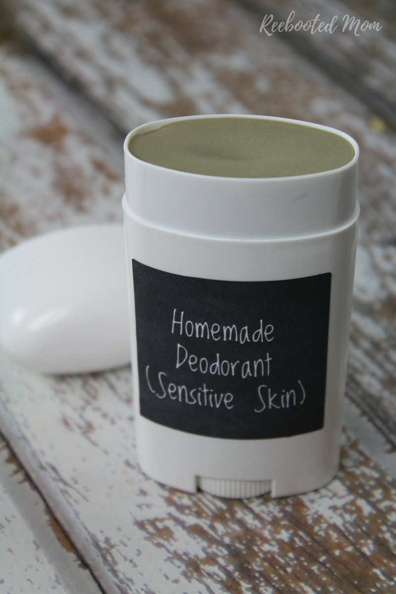 This Homemade Deodorant for Sensitive Skin is easy, effective, and requires only a few ingredients!
