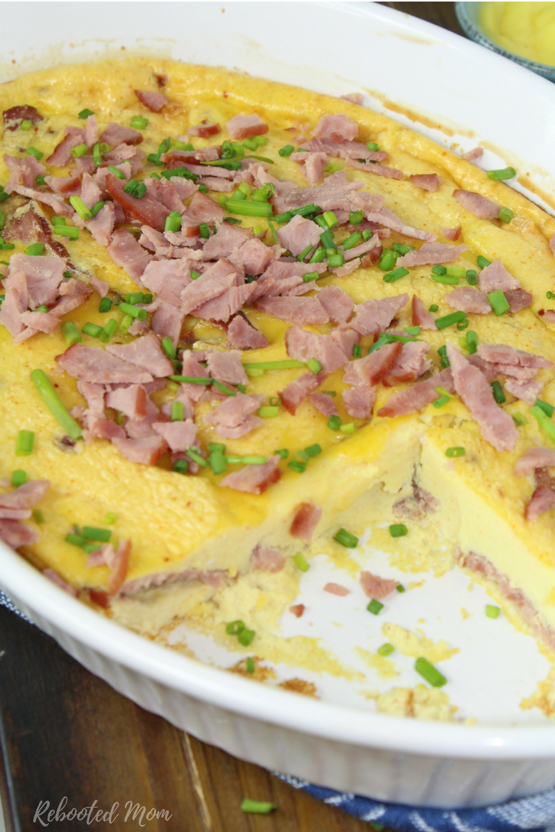 Combine eggs with your favorite breakfast meat in a delightful, low carb, breakfast casserole.