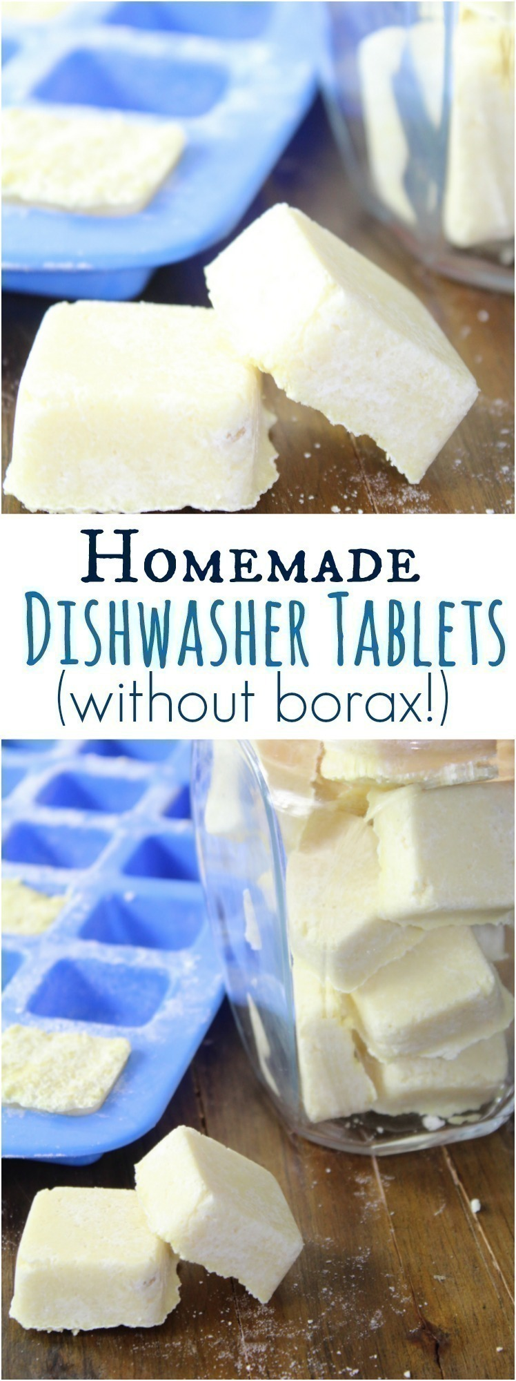 Save money by making your own homemade dishwasher tablets. Here's a simple recipe, without borax, that works amazing!
