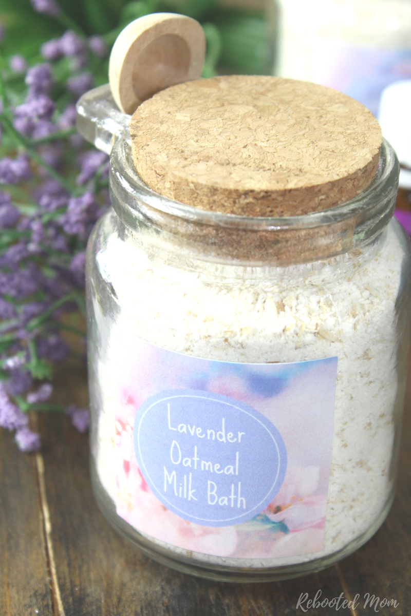 This Oatmeal Lavender Milk Bath is such a wonderful way to support and nourish your skin!