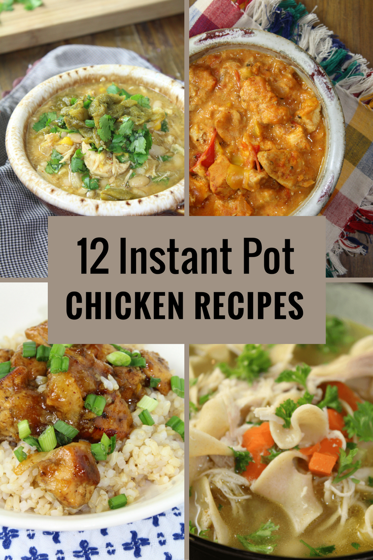 Looking for an easy way to make dinner? The Instant Pot is key! Here are 12 Instant Pot Chicken Recipes you will NOT want to miss!