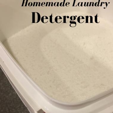 Homemade Powdered Laundry Detergent
