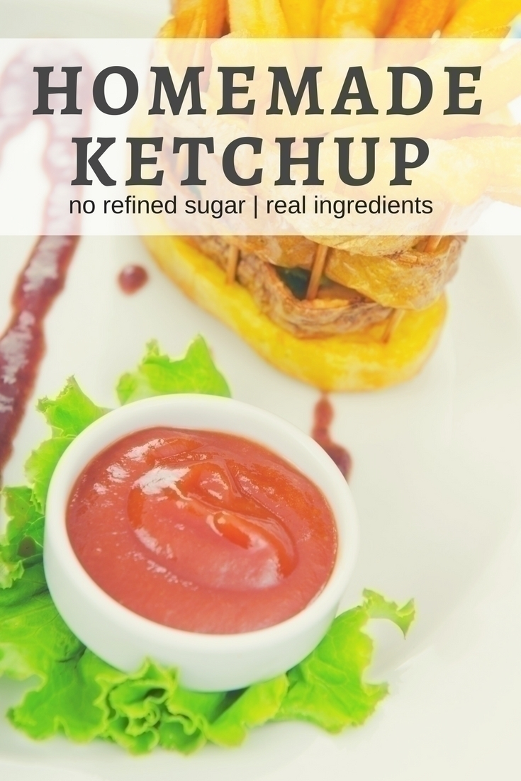 An easy recipe for homemade ketchup without high fructose corn syrup and additives.