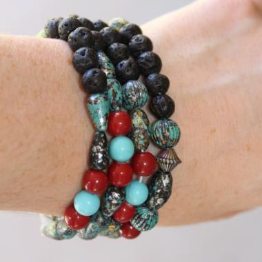 DIY Essential Oils Lava Diffuser Bracelet