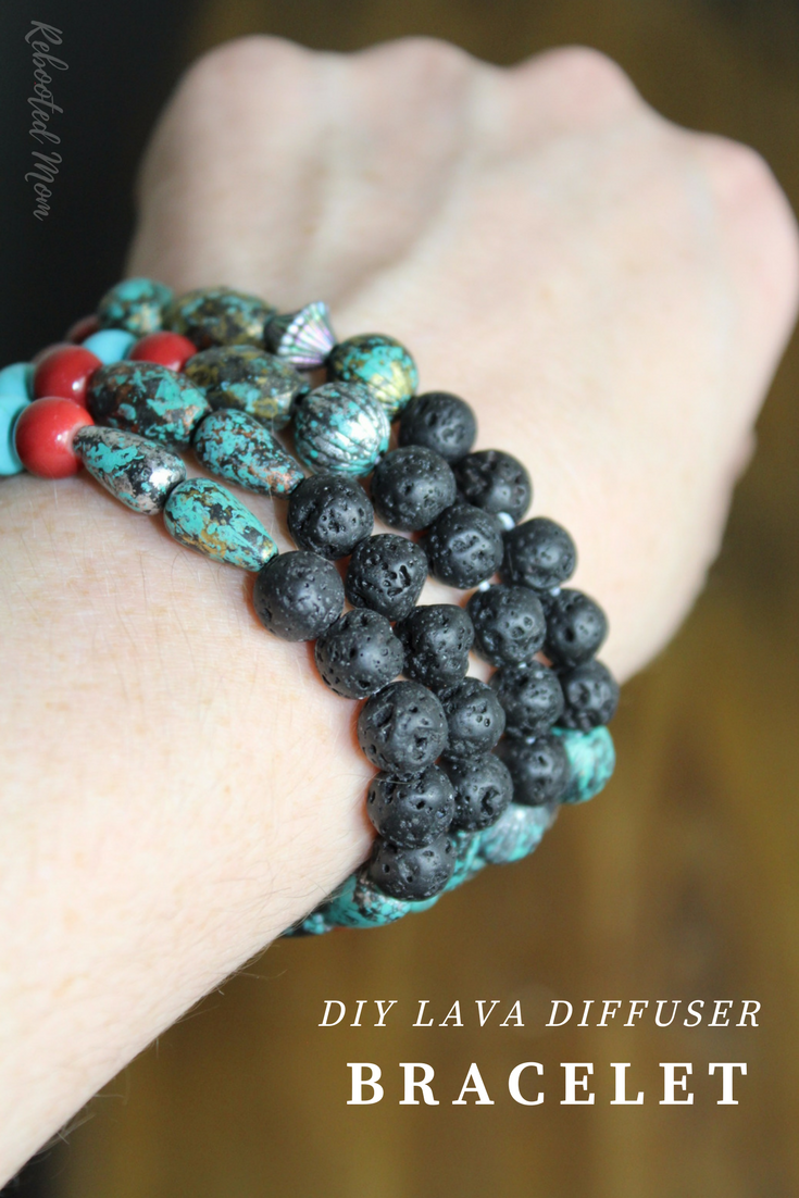 These DIY Essential Oils Lava Diffuser Bracelets are SO easy to make and are the perfect way to capture the support of essential oils on the go!