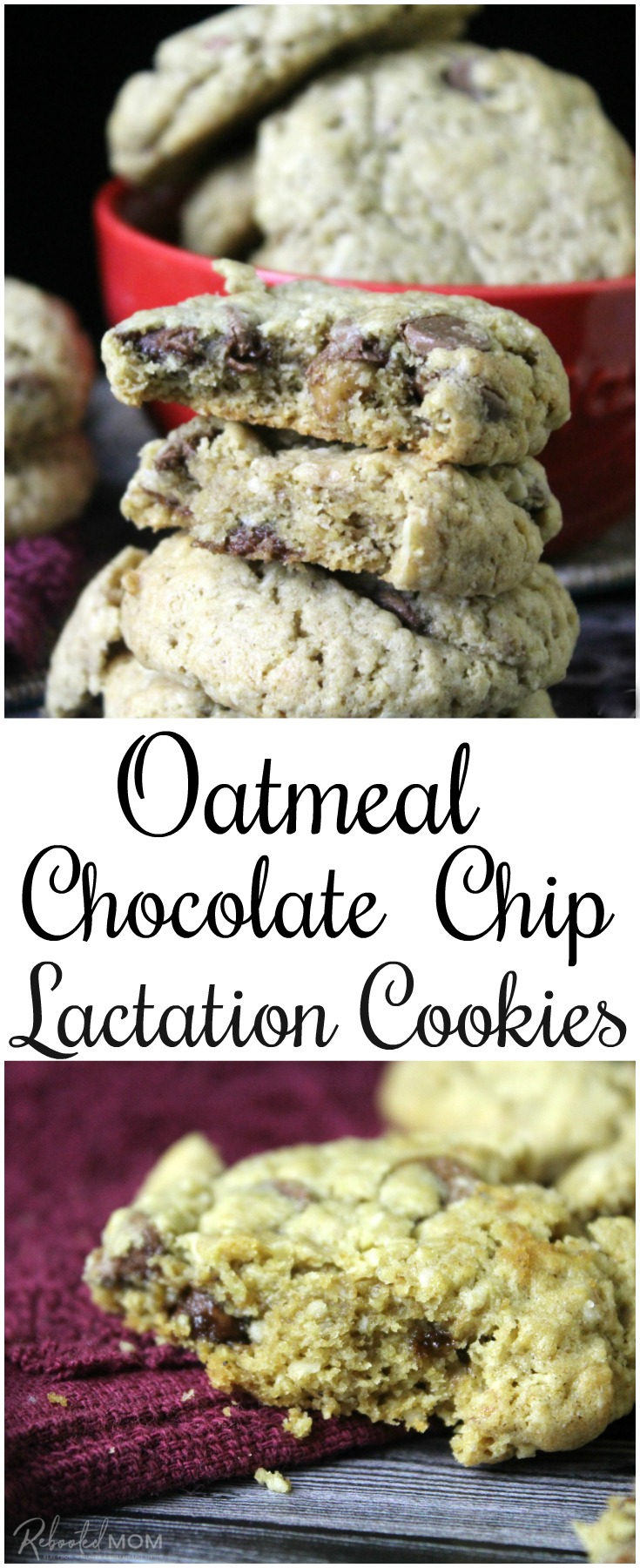 Lactation cookies are a great way to boost milk supply & help keep you nourished the first few weeks after labor and delivery. #lactationcookies #breastfeeding #mommy #baby #breastmilk #lactation #cookies