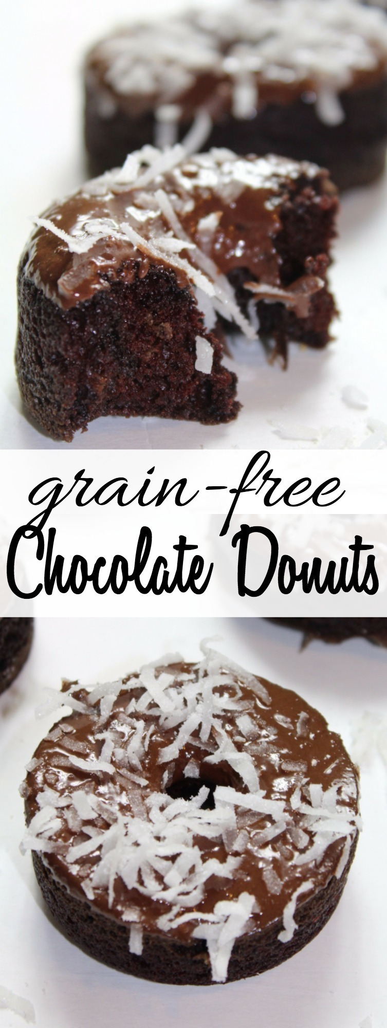 A homemade chocolate donut recipe that is grain free, gluten free, and refined sugar free - they are SO rich and decadent!