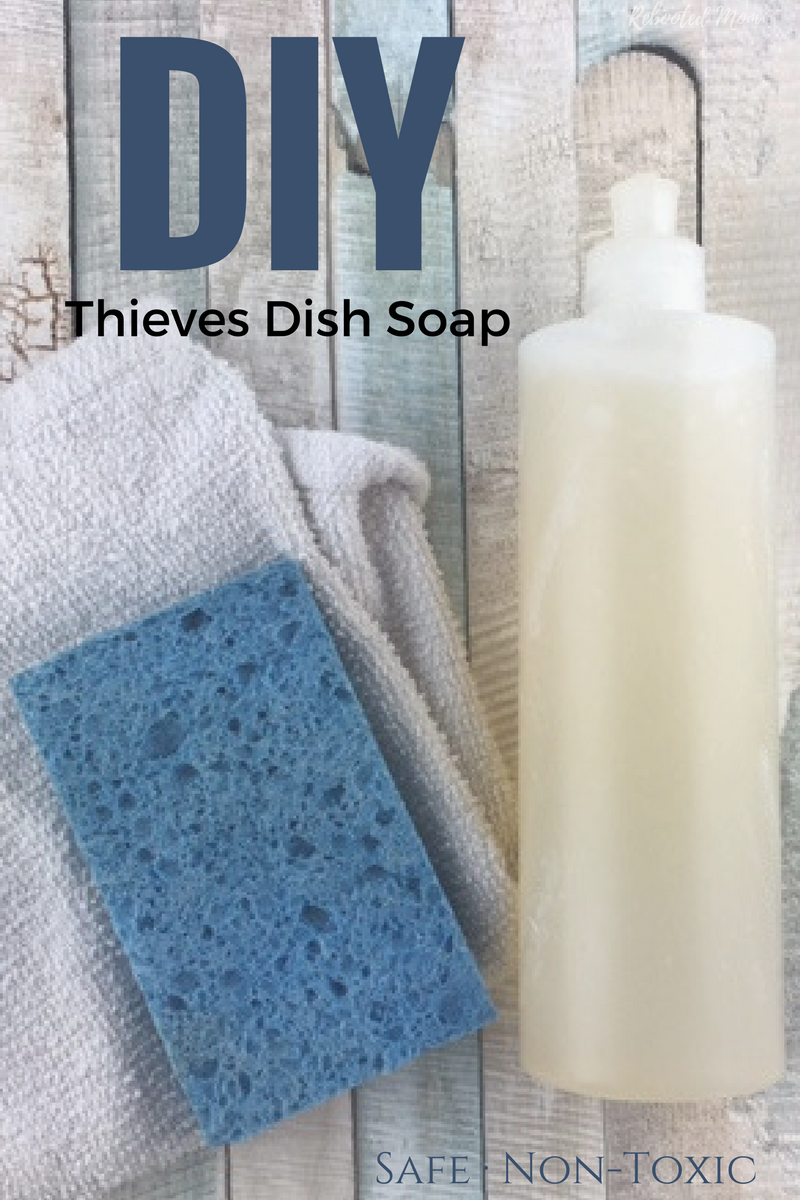 An easy non-toxic dish soap recipe that is simple to make at home.