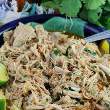 Instant Pot Chile Lime Shredded Chicken